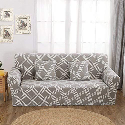 BAIF Sofabezüge Tight Wrap All-Inclusive-Schlafsofa-Bezug aus rutschfestem, elastischem Cubre, 1/2/3/4-Sitzer (145-185 cm), Farbe 21,3-Sitzer (Schlafsofa Gesteppt)