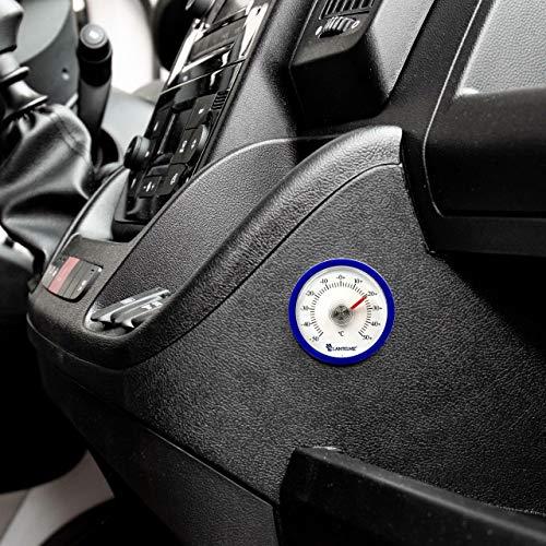 eter Selbstklebend Analog Auto Fahrzeug Pkw LKW Innen Thermometer Farbe Blau 7716 ()