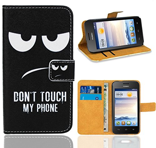 Huawei Ascend Y330 Handy Tasche, FoneExpert Wallet Case Flip Cover Hüllen Etui Ledertasche Lederhülle Premium Schutzhülle für Huawei Ascend Y330