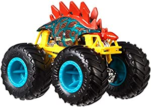 Hot Wheels - Monster Trucks Vehículo 1:64 motosaurus, coches de juguetes (Mattel GJY23)