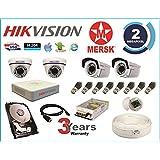 MERSK Hikvision 4Ch Turbo HD DVR & Mersk Full HD (2MP) CCTV Camera Kit