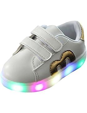 BOZEVON LED Sneakers di Pattini Casuali Lampeggianti Sportive Scarpe da Tennis del Ragazzo e Ragazza per Bambini