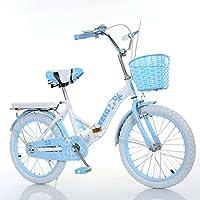 YEARLY Bicicleta plegable infantil, Bicicleta plegable estudiante Luz portátil Escolar primaria Bicicleta plegable 8-