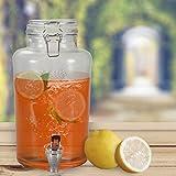 DRULINE 3L Getränkespender mit Hahn ENJOY Dispenser Zapfhahn Zapfsäule Glaskanne Spender 1 Stück