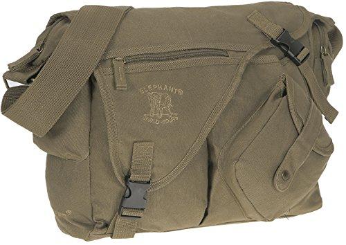 Elephant Jack Bag Canvas Notebooktasche Schultertasche 11822 OLIV -