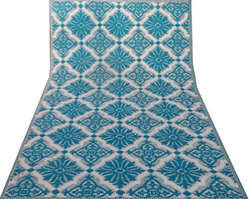 artigianale tappetino polipropilene materiale motivo floreale tappeto straccio 6 x