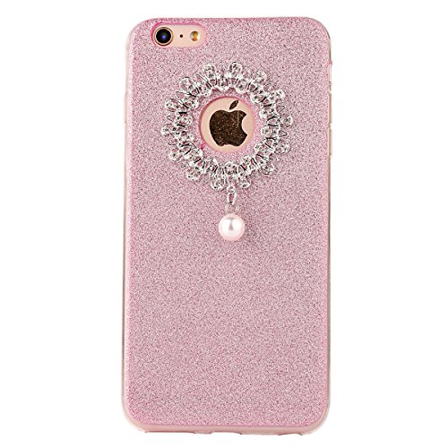 "iPhone 6s Hülle, iPhone 6 Handytasche, CLTPY Ultradünn Weich TPU Schutzfall Shinning Glitzer Kristall Schale Etui für 4.7"" Apple iPhone 6/6s + 1 x Stift - Rosa Rosa 2"
