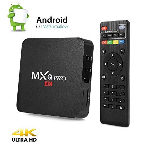 Chinavasion MXQ Pro Ultra HD TV Box - KODI, Android 5.1, 64Bit Amlogic S905 Quad Core, H.265 4K Decoding (LYCA-MXQPMFGU)