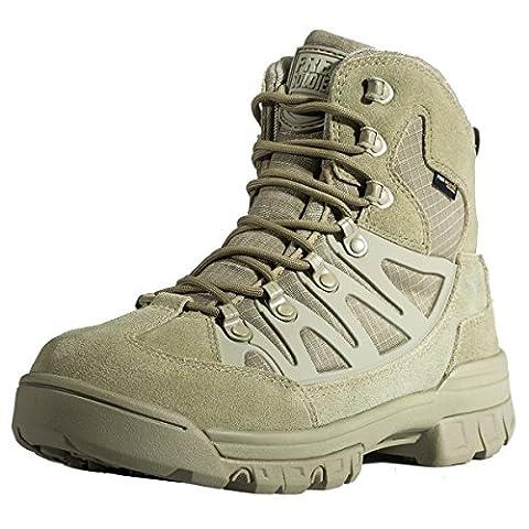 gratuit Soldat léger respirant Chaussures de sécurité tactique militaire Cadet faible Top randonnée Sports de plein air Camping Chaussures en cuir, Homme, boue