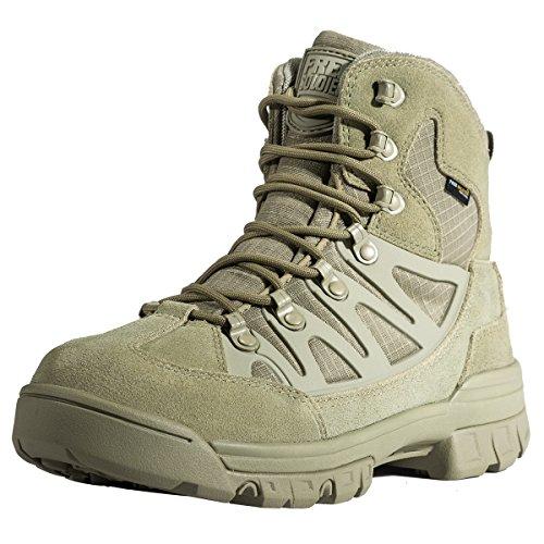 Free Soldier leggero traspirante stivali da lavoro di sicurezza tattico Cadet Low top militare escursioni sport outdoor campeggio scarpe in pelle, Uomo, Mud