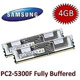 Mihatsch y Diewald/Kit Samsung 8 GB 4 x 2 GB DDR2 667 mhz 240polig PC2-5300F con disipador de calor - compatible con IBM FRU #39M5791, (2 x) 39M5789 - compatible con IBM Intelli Z Pro estación 9228, Blade Center xSeries HS21 + HS21 XM + X3400 + X3450 + X3500 + X3550 + X3650