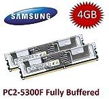 Mihatsch & Diewald / Samsung 4GB Kit 2 x 2GB DDR2 667Mhz 240polig PC2-5300F mit Kühlkörper - kompatibel zu HP FRU#(2x) 397413-B21, 442823-B21, (4x) EM161AA - passend für HP ProLiant BL20p G4 Server Blade + BL460c G5 + BL480c + BL680c G5 + DL140 G3 + DL160 G5 + DL360 G5 + DL380 G5 + DL580 G5 + ML150 G3 + ML350 G5 + ML370 G5 + xw460c + xw6400 + xw6600 + xw8400 + xw8600