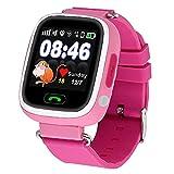 Enfants Smart Watch, 1.22 pouces IPS couleur écran tactile SOS appel GPS WiFi emplacement Tracker Safe anti perdu moniteur Smart Watch