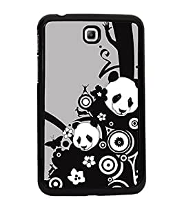 Fiobs High Glossy Designer Phone Back Case Cover Samsung Galaxy Tab 3 (7.0 Inches) P3200 T210 T211 T215 LTE ( Cute Panda Butterfly Music Symbol )