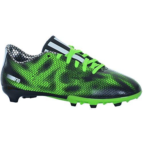 F10 FG J VER - Chaussures Football Garçon Adidas Noir