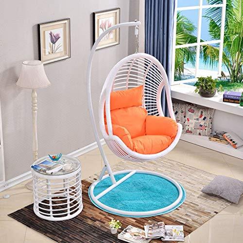 BLSTY Im Freien Nest Hängesessel Stuhlkissen, Atmungsaktivem Komfort Sitzkissen für Hängende Ei Stuhl Hängematte Rückenkissen Ohne Halterung-Orange -