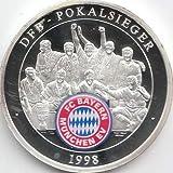 Medaille FC Bayern München Polierte Platte Deutscher Pokalsieger 1998 (Münzen für Sammler)