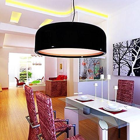 Pendentif acrylique aluminium moderne Luminaire plafond avec câble réglable ,350mm-Black