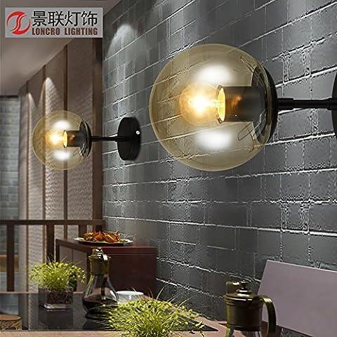 GaoHX moderno minimalista Nordic American Lampada da parete corridoio al posto letto Camera da Letto Lampada da parete,1 testina