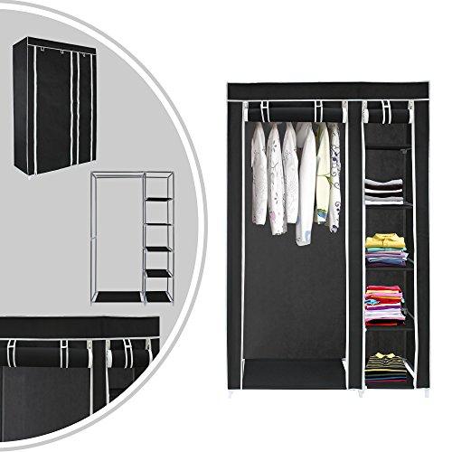 Leogreen - Armadio, Credenza, 2 porte, 172 x 105 x 43 cm, Nero, Materiale: Connettori per tubi in plastica