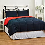 Lightweight Reversible Down Alternative Summer Comforter Set by ExceptionalSheets, Twin/Twin XL, Red/Blue