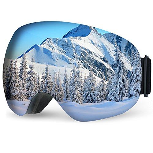 TOPELEK Masque Ski Lunettes Ski Snowboard Hommes...