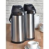 2er Airpot 1,9 L Edelstahl Kaffeekanne rostfrei Pumpkanne Isolierkanne...