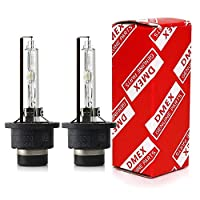 DMEX D2S - 35W - 4300K Warm White Xenon Headlight HID Bulbs 66240 66040 85122 Replacement - 2 Yr Warranty - Pack of 2