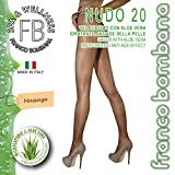 Franco Bombana Wellness BEAUTY TIGHTS, Nude 20 With ALOE VERA | Highly Transparent Tights With Moisturizing ALOE VERA & Anti-Age Treatment For The Skin | Women's Ultra Sheer Tights | MADE IN ITALY