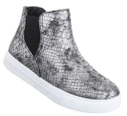 Damen Grau 36 37 39 40 Schuhe Braun Boots Pink Silber Stiefeletten Schwarz 38 41 8YYgrqBw