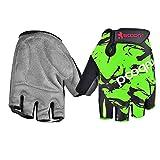 Bobury Kinder-Radfahren-Straßen-Handschuhe Breath Reiten Halbfinger-Gebirgsfahrrad-Fäustling für Kinder Jungen Mädchen Sport-Handschuhe