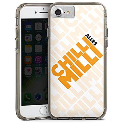 Apple iPhone X Silikon Hülle Case Schutzhülle LPmitKev Fanartikel Merchandise Alles Chilli Milli Weiss Bumper Case transparent grau
