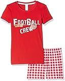 Envie Herren Football mit Kurzer Hose 100% Baumwolle Pyjama für Kinder, Red, 140-146