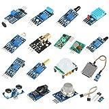 Akozon Professionelle Sensor Module Kit 16 teile/satz Projekt Super Starter Kits für Raspberry Pi