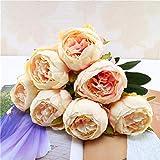 TAOtTAO 1 Blumenstrauß Vintage Künstliche Pfingstrose Seidenblumen Bouquet für Dekoration (Rosa)