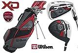 Juego de golf Wilson X31 de hombre para zurdos, palos con mangos de acero, grafito y madera