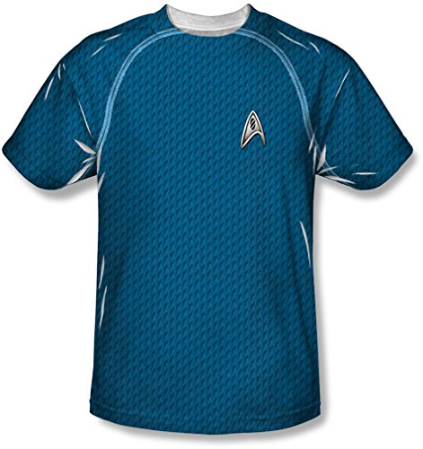 Star Trek - Männer-Wissenschaft Uniform T-Shirt White