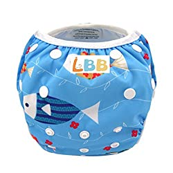 LBB(TM) One Size Reuseable Washable Swim Diaper,Fish
