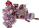 Disney Frozen 5Stück Ice Pink Weihnachten Weihnachtsbaumschmuck Weihnachtsbaumkugeln-Set