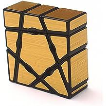 Wings of Wind - Ghost Cube 1X3X3 Cubo mágico, velocidad y rompecabezas liso Magic Cube (Dorado)
