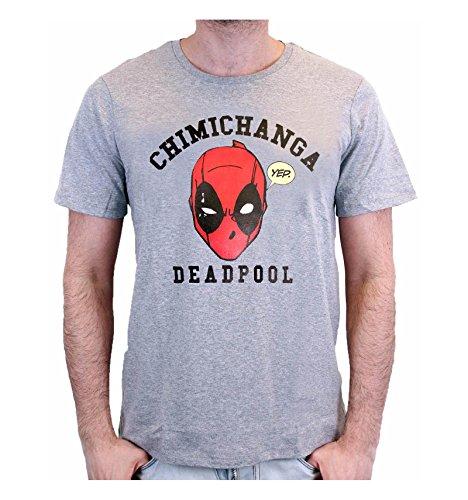 cotton division Herren T-Shirt Gris-chiné Homme