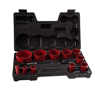 Abracs ABHSKIT17 Plumbers Holesaw Kit - Black (17-Piece)