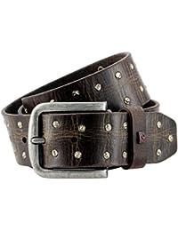 LINDENMANN- Cinturón de cuero para hombre / cinturón para hombre pierre cardin, 70127 marrón oscuro,