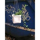 Blumenampel aus LKW Plane, weiß von TITA BERLIN
