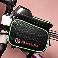 SAVA Bicicletta Della bici Frontale Superiore del Tubo Telaio Pannier Doppio Sacchetto del Sacchetto per 5.5 Pollice Mobile iPone 6/ 6s / 6 plus (Verde) - Biciclette Pannier