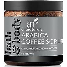 artnaturals Pure Arabica café Scrub 260ml–el más poderoso remedio para las varices, celulitis y estrías–de profundidad piel exfoliante que promueve celdas reparación y rejuvenecimiento