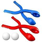 Ndier Juguete Winter Snowball Maker, Rojo y Azul - Paquete de 2 Play...