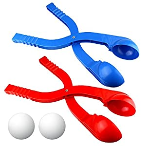 Ndier Winter Schneeball Maker Spielzeug, Rot und Blau – 2 Pack Perfect Play Schneespielzeug Spaß für alle in der Familie, um perfekte Schneebälle zu Machen
