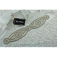 queendream Natale con strass cintura applique design unico cristallo applique