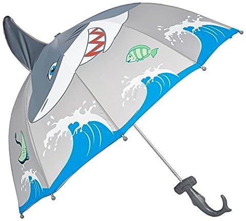 Kidorable Little Boys' Shark Umbrella, Gray, One Size